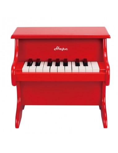 Piano de madera rojo