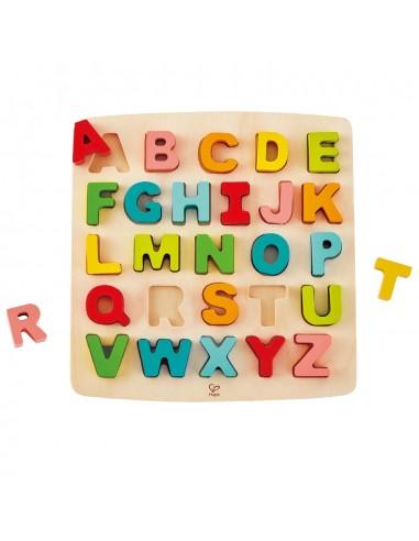 Puzle de madera encajable alfabeto...