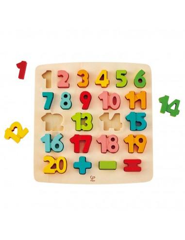 Puzle de madera encajable matemáticas