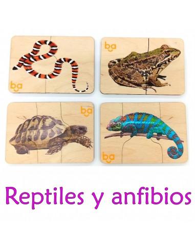 Mi primer puzle Reptiles y anfibios