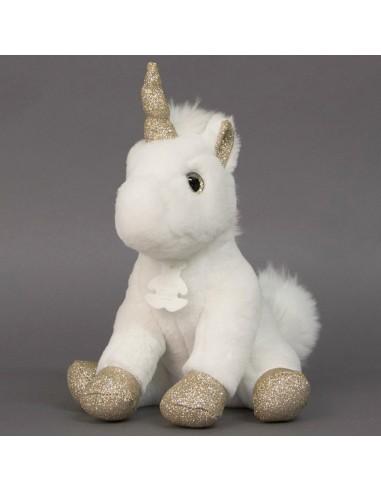 Unicornio dorado de 25 cm