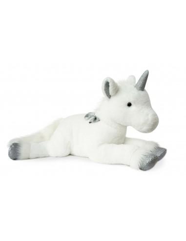 Unicornio plateado de 60 cm