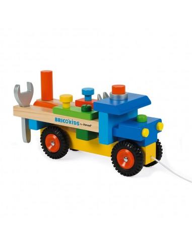 Camión de madera de bricolaje y de...