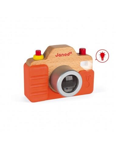 Máquina de fotos de madera con sonido...